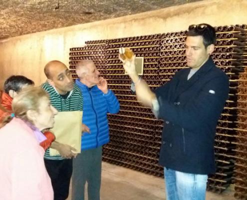 Visita a les caves Alta Alella