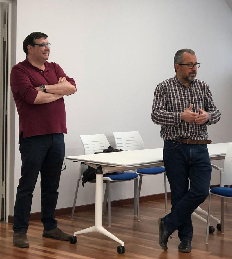 Inauguració de les aules de formació a Can Torras