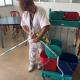 Equip de neteja de la FSFA a Les Hortènsies