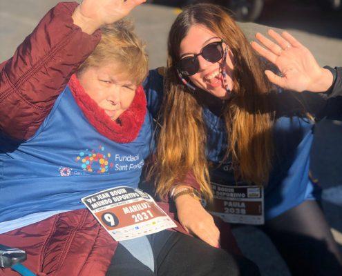 Residents de Les Hortènsies a la cursa Jean Bouin