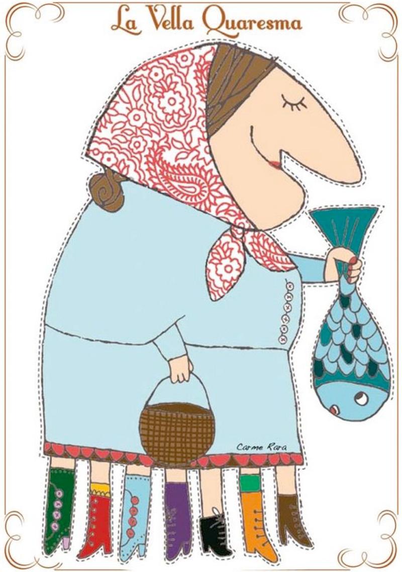 La vella quaresma - il.lustració Carme Rara