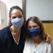 Equip d'infermeria de la FSFA amb les noves mascaretes