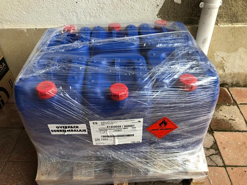 Donació de solució hidroalcohòlica