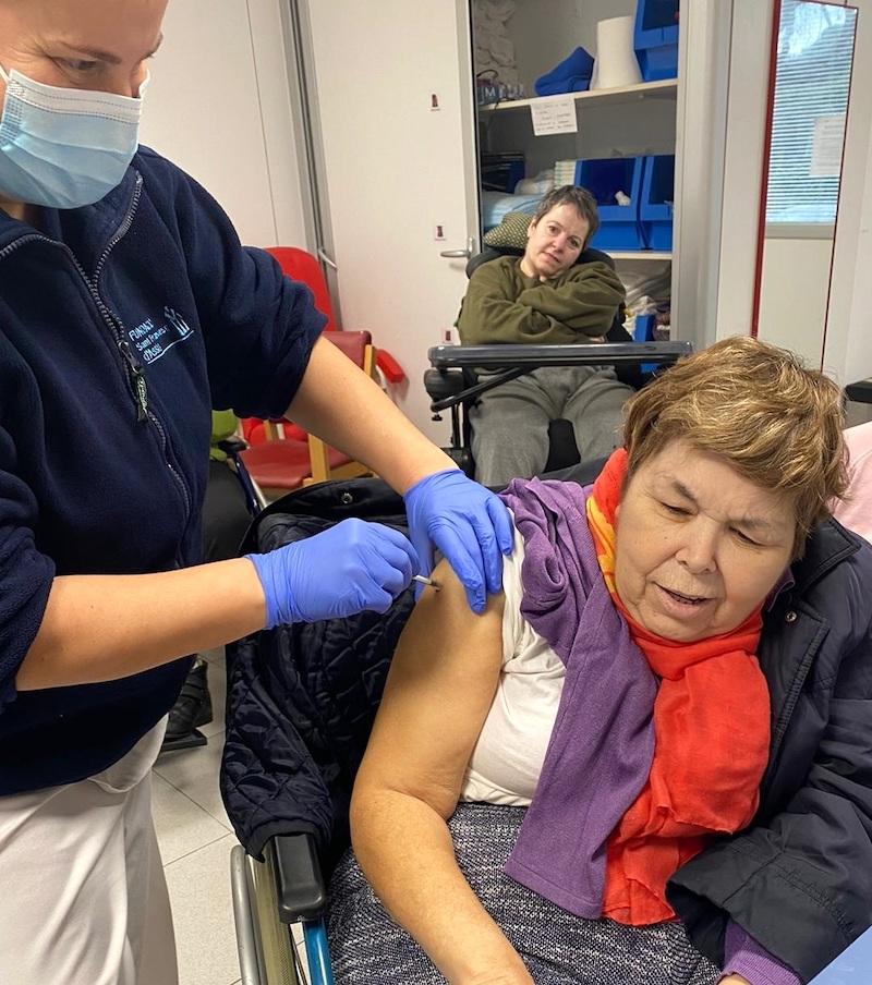 Vacunació Covid-19 a la Residència per a persones amb discapacitat Les Hortènsies
